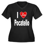 I Love Pocatello (Front) Women's Plus Size V-Neck