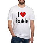 I Love Pocatello Fitted T-Shirt