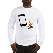 Snails and smartphone Long Sleeve T-Shirt