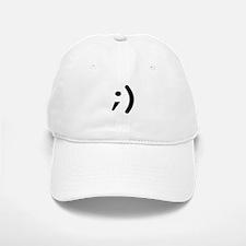 wink emoticon Baseball Baseball Cap