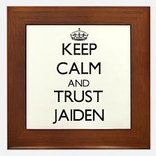 Keep Calm and TRUST Jaiden Framed Tile