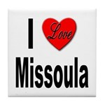 I Love Missoula Tile Coaster