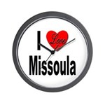 I Love Missoula Wall Clock