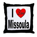 I Love Missoula Throw Pillow