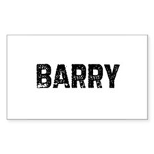 Barry Rectangle Decal