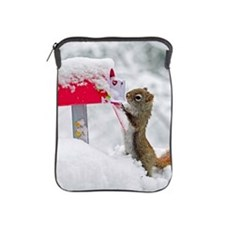 Squirrel searches for Valentines in sn iPad Sleeve