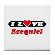 I Love Ezequiel Tile Coaster