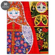 Painting of Russian Matryoshka doll Puzzle