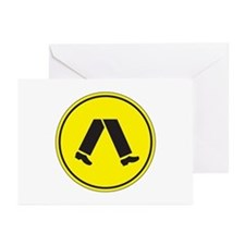Pedestrian Crossing, Australia Greeting Cards (Pac