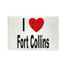 I Love Fort Collins Rectangle Magnet