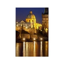 Prague, Charles Bridge. Rectangle Magnet
