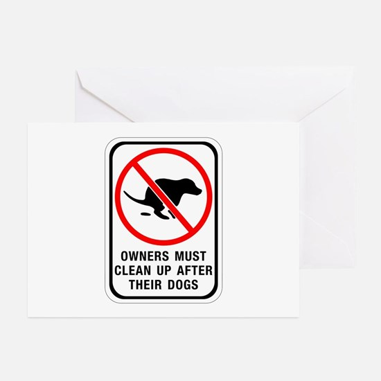 Owners Must Clean Up, Australia Greeting Cards (Pa