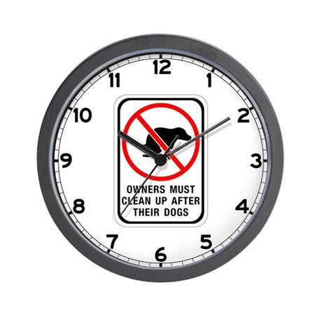 Owners Must Clean Up, Australia Wall Clock