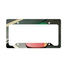 Table Tennis Rackets License Plate Holder