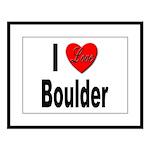 I Love Boulder Large Framed Print