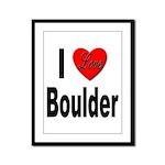 I Love Boulder Framed Panel Print