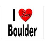 I Love Boulder Small Poster