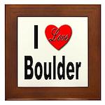 I Love Boulder Framed Tile