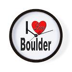 I Love Boulder Wall Clock