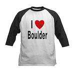 I Love Boulder Kids Baseball Jersey