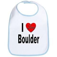 I Love Boulder Bib