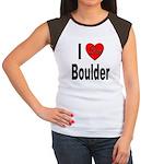 I Love Boulder (Front) Women's Cap Sleeve T-Shirt