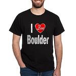 I Love Boulder (Front) Dark T-Shirt