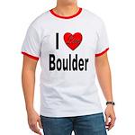I Love Boulder Ringer T