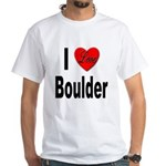 I Love Boulder (Front) White T-Shirt