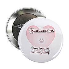 Beauceron Love U Button