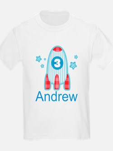 3rd Birthday Rocket ship T-Shirt