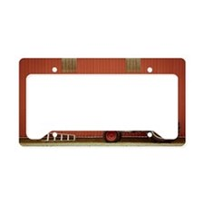 Tractor and Ladder beside Bar License Plate Holder