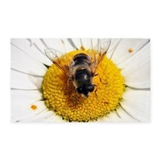 Hoverfly on flower 3'x5' Area Rug