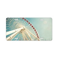 Navy Pier Ferris Wheel, Chi Aluminum License Plate