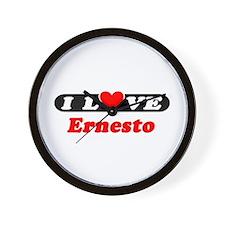 I Love Ernesto Wall Clock