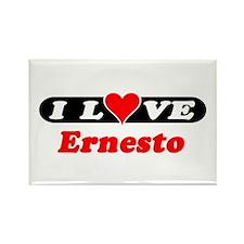 I Love Ernesto Rectangle Magnet