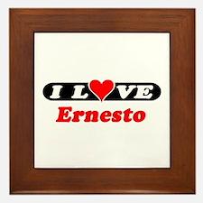 I Love Ernesto Framed Tile