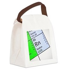 Radon on periodic table Canvas Lunch Bag