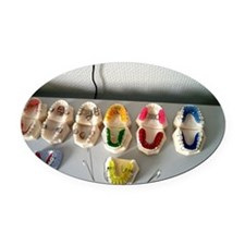 Orthodontist Oval Car Magnet