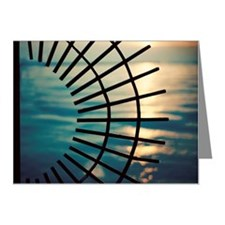 Sunrise Viewed Through Round Note Cards (Pk of 20)