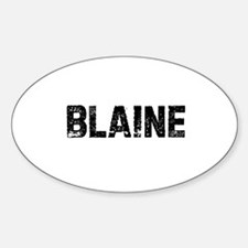 Blaine Oval Decal