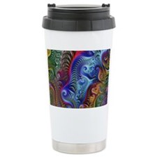 Fractal Color Swirls Bl Travel Mug