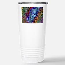 Fractal Color Swirls Bl Travel Mug