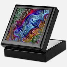 Fractal Color Swirls Blnkt Keepsake Box