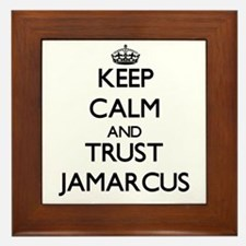 Keep Calm and TRUST Jamarcus Framed Tile