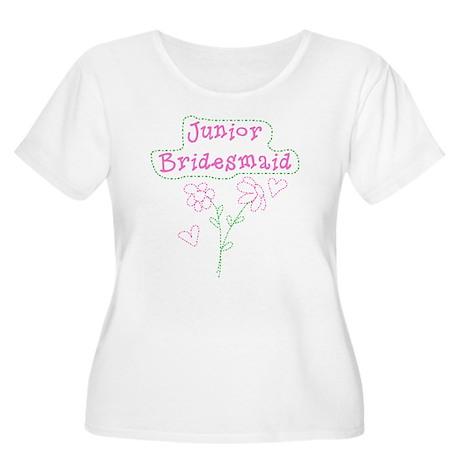 Junior Bridesmaid Women's Plus Size Scoop Neck T-S