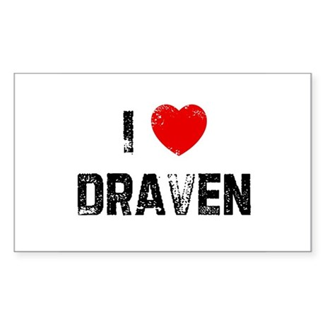 I * Draven Rectangle Sticker