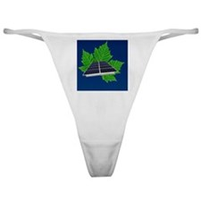 Solar Panel and Green Leaf Classic Thong