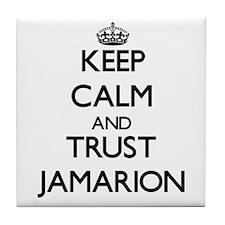 Keep Calm and TRUST Jamarion Tile Coaster
