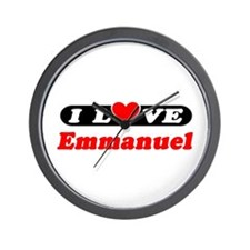 I Love Emmanuel Wall Clock